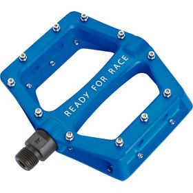 Cube RFR CMPT Flat Pédales, blue